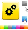 Settings glossy button vector image vector image