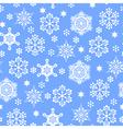 snowfall pattern blue vector image vector image