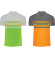 striped t shirts vector image vector image