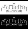 tallahassee skyline linear style editable file vector image vector image
