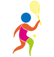 Tennis icon on white background vector image vector image