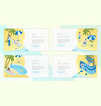 tropical resort landing pages template set travel vector image vector image