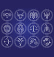 twelve astrological signs isolated icon zodiac vector image vector image