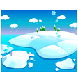 Water and snow landscape vector image vector image