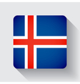 web button with flag iceland vector image vector image