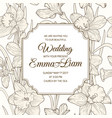 wedding invitation card daffodil narcissus flowers vector image vector image