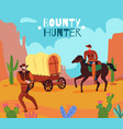 wild west bounty background vector image