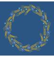 wreath bread blue vector image vector image