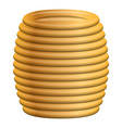 yellow coil cable icon cartoon style vector image
