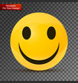 yellow happy face vector image vector image