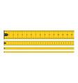 yellow measure tape vector image