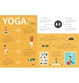 Yoga infographic flat vector image