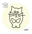 cat thin line icon vector image