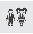 Boy and girll pupil icon vector image