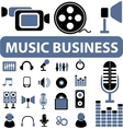 music business signs vector image