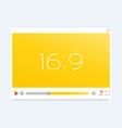 video player interface light modern template vector image