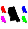 3d map of mississippi vector image vector image
