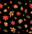 abstract autumn seamless pattern background vector image vector image