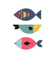 abstract fish home wall decor in scandinavian vector image