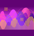 abstract geometric shapes and lines on purple vector image vector image