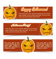 abstract happy halloween horizontal banners vector image vector image