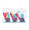airplane passengers in economy class flat vector image vector image