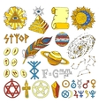 astrology esoteric hand drawn set vector image vector image