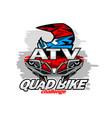 atv quad bike challenge logo vector image vector image