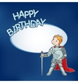 Birthday card with little knight vector image