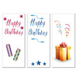 birthday cards on a white background vector image vector image