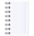 blank lined notebook large spring vector image