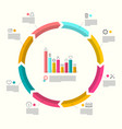 business circle infographic layout with icons and vector image vector image