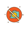 camera not allowed icon design vector image