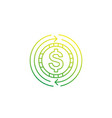 cash back money refund or exchange icon linear vector image vector image