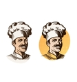 Chef baker cook symbol Cooking restaurant or vector image