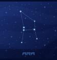 constellation ara altar night star sky vector image vector image