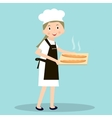 Cooking bread miller chef Professions miller vector image
