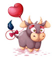 cute funny cartoon cow characters vector image