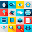 deep learning colorful icons vector image vector image