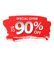 discount 90 percent in paper style vector image vector image