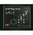estradiol molecule image vector image