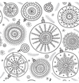 ethnic christmas baubles seamless pattern vector image vector image