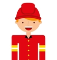 fire fighter character isolated icon vector image vector image