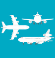 Flat design airplane set vector image