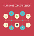 flat icons mosque mecca pitcher and other vector image vector image