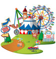 fun fair theme park on isolated background vector image