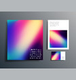 gradient design set for brochure flyer cover vector image