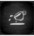 hand drawn spilt coffee vector image vector image