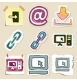 Hand drawn web emblems set Isolated vector image