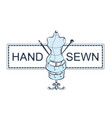 hand sewing vector image vector image